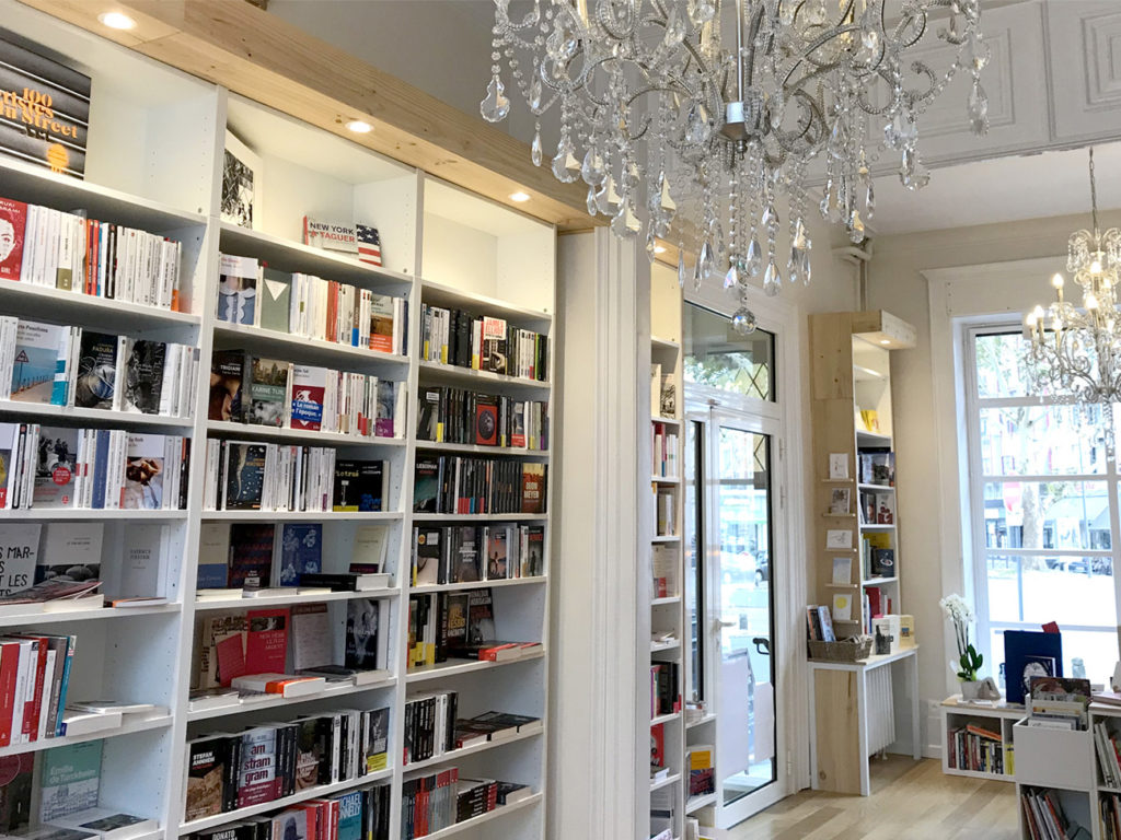 Photo de l'intérieur de la librairie Place ronde à Lille