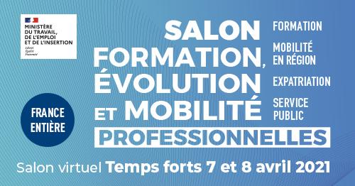 Salon virtuel Formation évolution et mobilité professionnelles